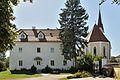 Holzhausen Pfarrhof Kirche Gartenmauer.JPG