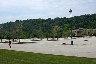 The Waterfront - The parking lot at The Waterfront.