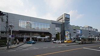 Hon-Kawagoe Station - The east side of Hon-Kawagoe Station in February 2016
