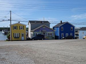 Chéticamp, Nova Scotia - Image: Houses in Chéticamp