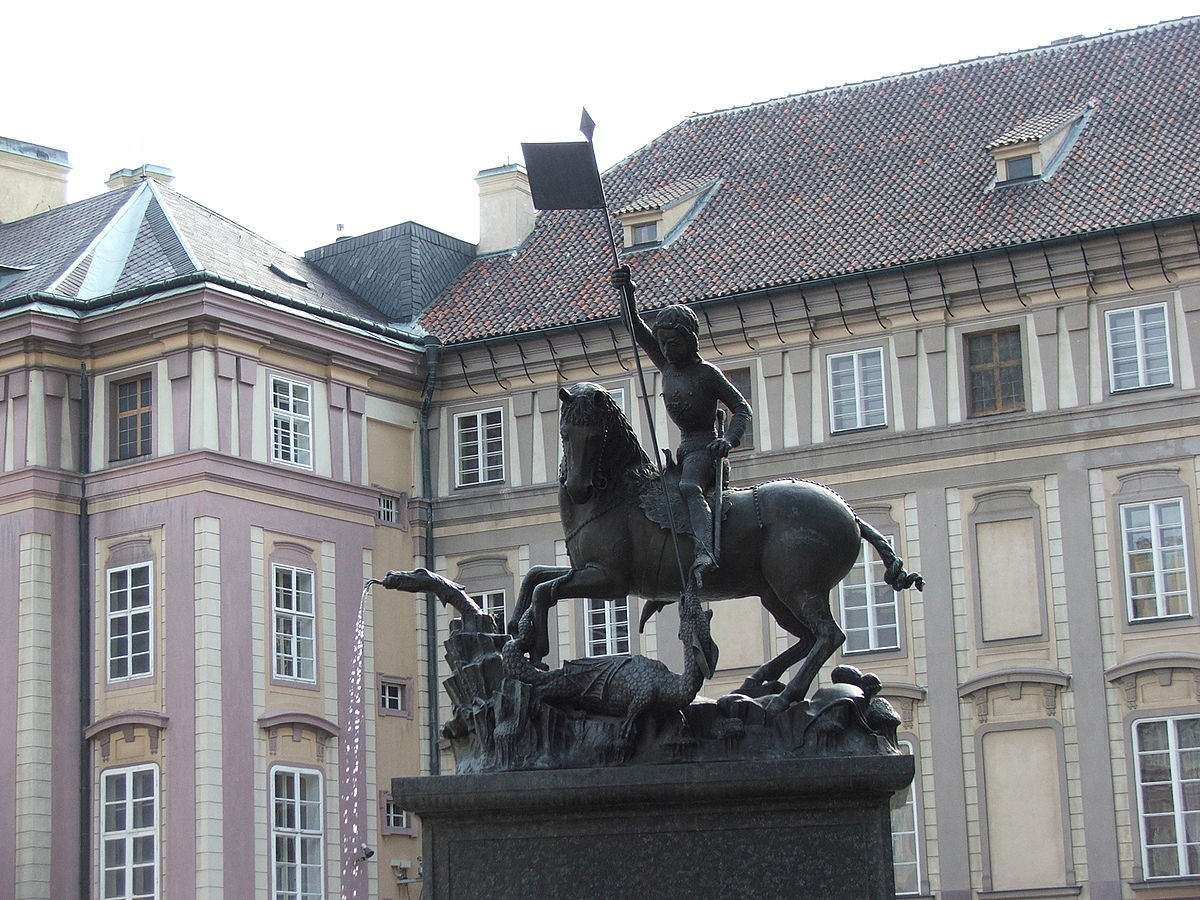 Statue of Saint George at Prague Castle