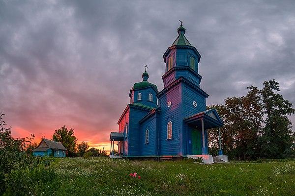 Хрестовоздвиженська церква, село Старий Солотвин. © Дмитро Балховітін, ліцензія CC-BY-SA-4.0