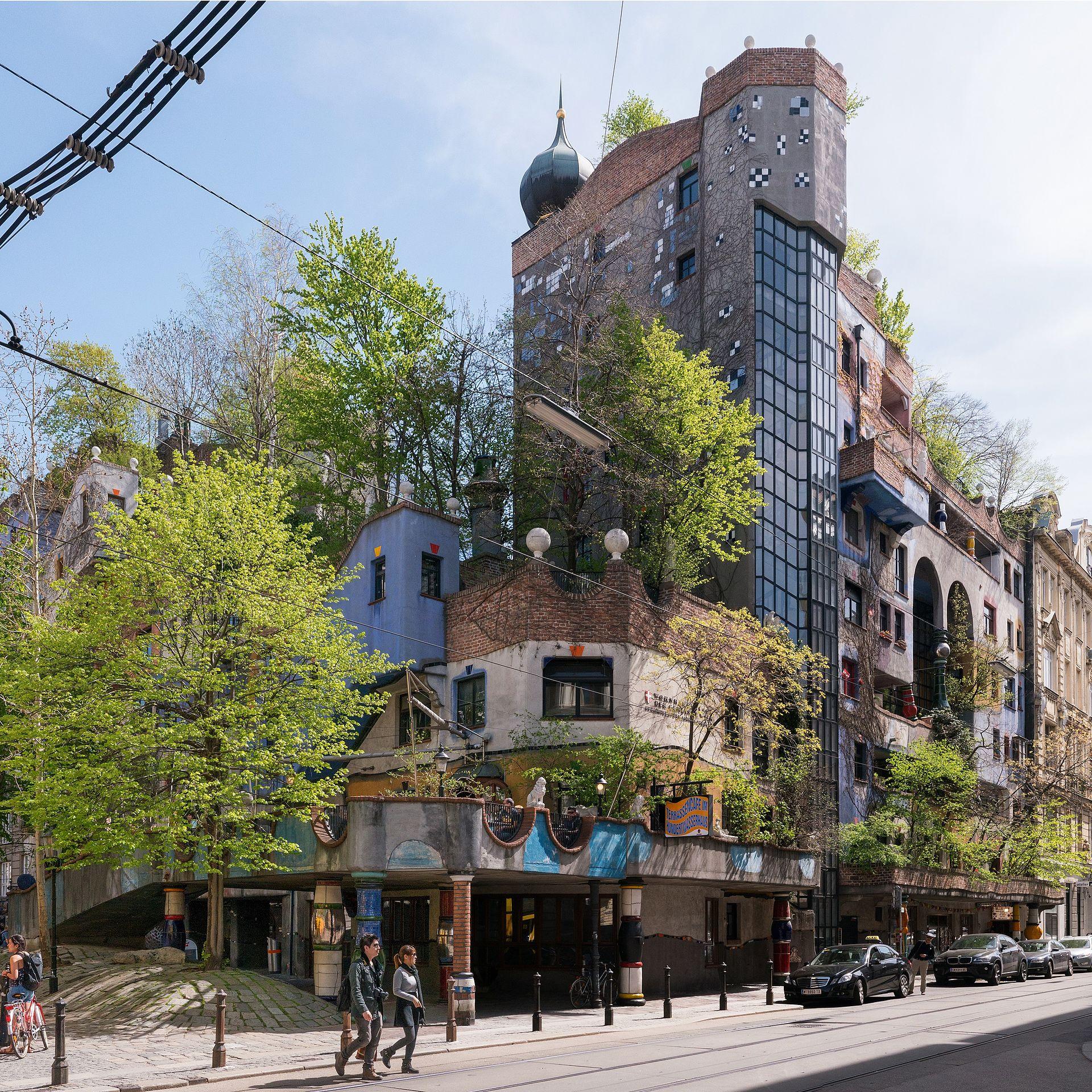 Hundertwasserhaus wien wikipedia - Ansicht architektur ...