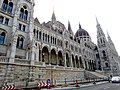 Hungarian Parliament, Danube side detail, 2013 Budapest (390) (13227429745).jpg