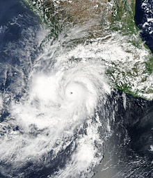 Hurricane Hilary off the coast of Mexico on September 23, 2011