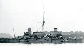 Japanese cruiser Kasuga - Image: IJN Kasuga at Sasebo in 1905