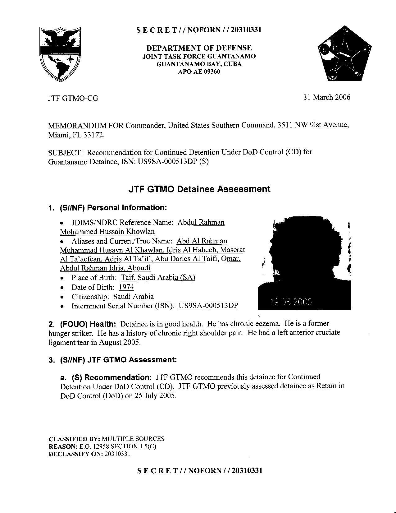 ISN 513's Guantanamo detainee assessment.pdf