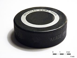 Hockey puck - A standard hockey puck