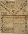 Illustrated family record (Fraktur) found in Revolutionary War Pension and Bounty-Land-Warrant Application File... - NARA - 300174.tif