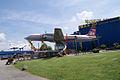 Ilyushin Il-18E Coot Czech Airlines OK-PAI LSide SATM 05June2013 (14600057642).jpg