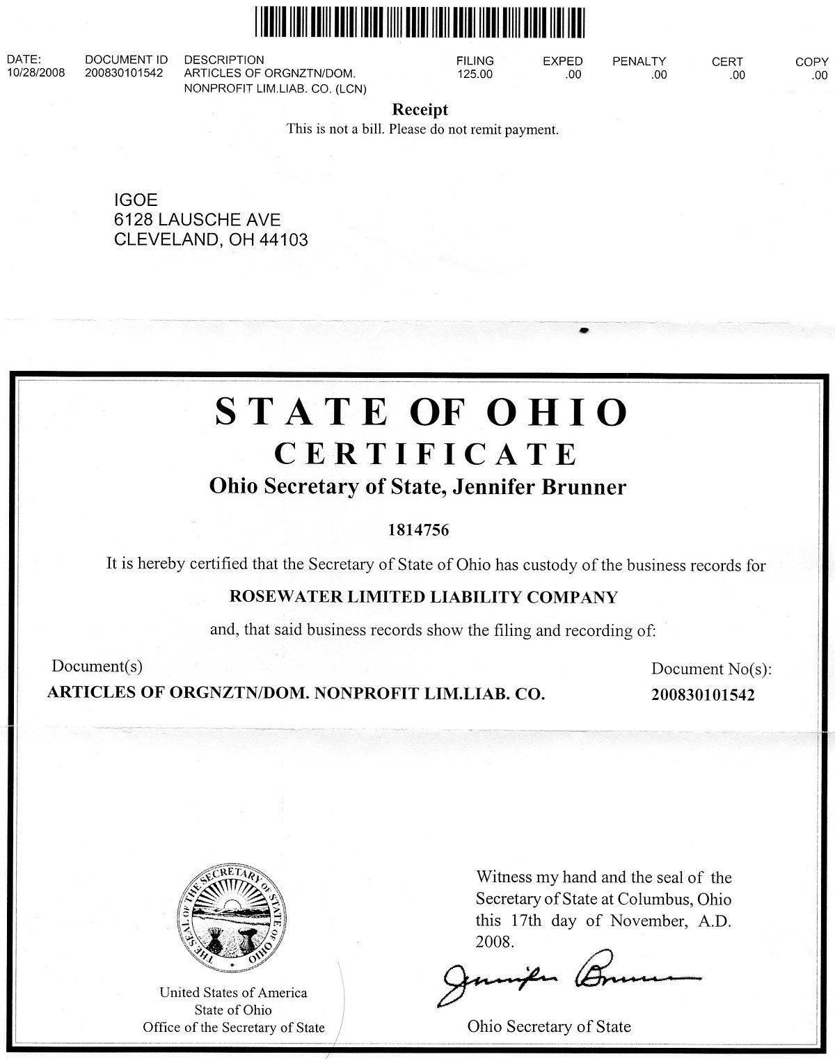 Rosewater Limited Liability Company - Wikipedia