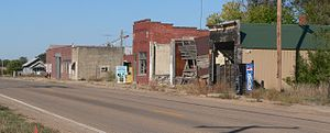 Inavale, Nebraska - Blaine Street (U.S. Highway 136) in Inavale