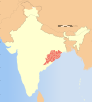 India Orissa locator map.svg