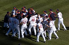 The Indians celebrate winning American League Central