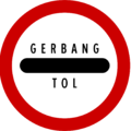 Indonesia New Road Sign Pro 1c on toll plazas.png
