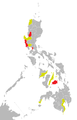 Influenza A(H1N1) map of the Philippines as of 6 June 2009.png