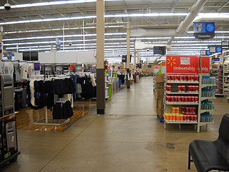 Walmart - Inside the Walmart Supercenter in West Plains, Missouri