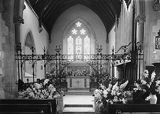 Interior of St Winifrid's, Cwmdeuddwr