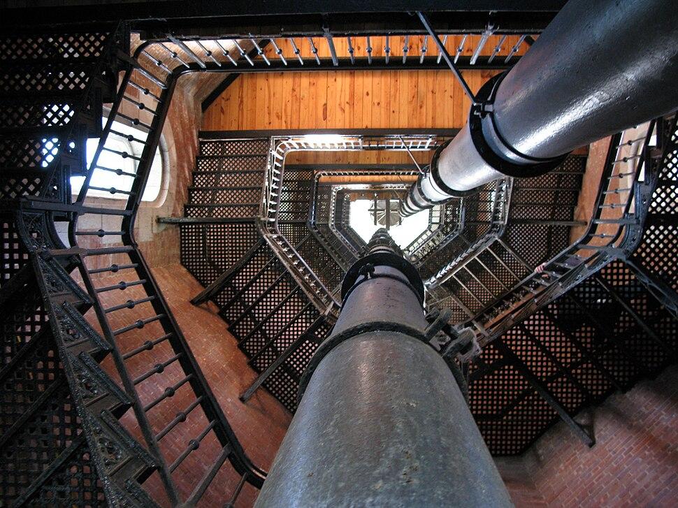 Interior spiral staircase (3), Highbridge Water Tower, Manhattan, 2008-10-04