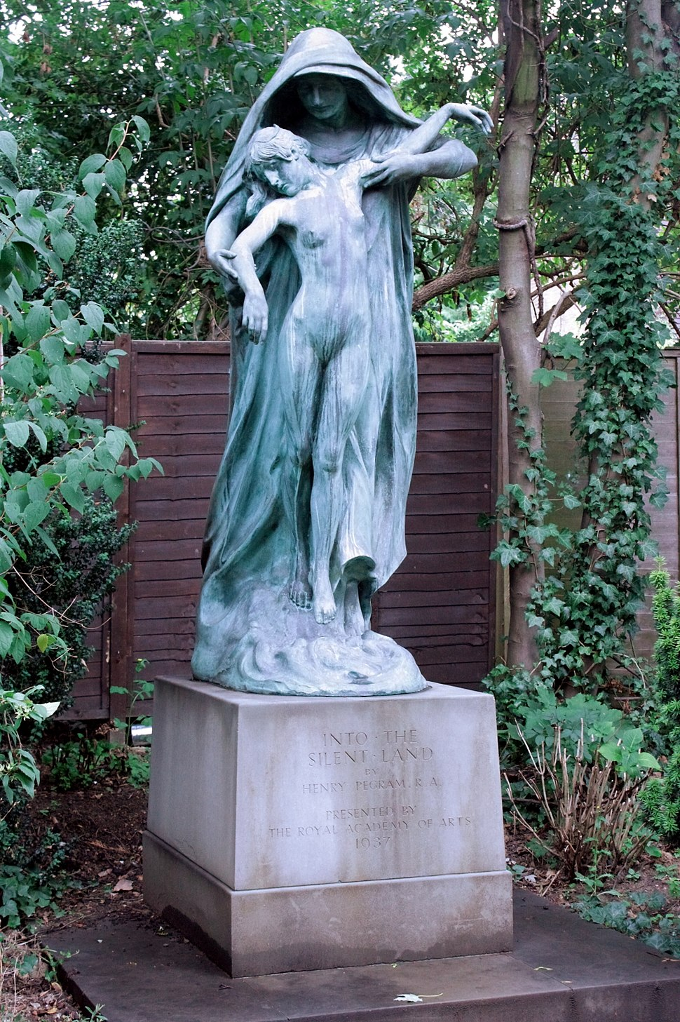 Into the Silent Land by Henry Pegram, Golders Green Crematorium
