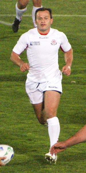 Irakli Abuseridze - Abuseridze in action vs Romania at 2011 Rugby World Cup