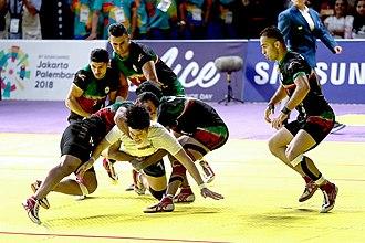 Kabaddi - A kabaddi match during the 2018 Asian Games.
