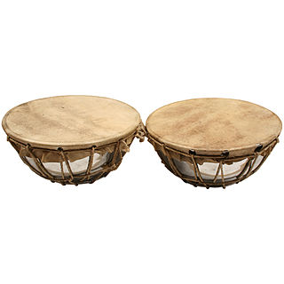 <i>Naqareh</i> Middle Eastern drum with a rounded back and a hide head