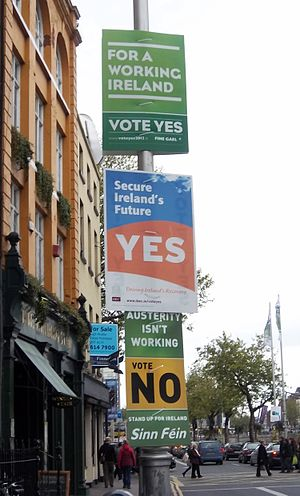 Thirtieth Amendment of the Constitution of Ireland - Referendum campaign posters in Dublin