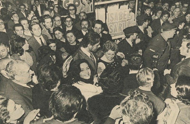 Isabel Sarli en el estreno de Fuego, 1971.jpg