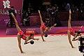 Israel Rhythmic gymnastics at the 2012 Summer Olympics (7915381618).jpg