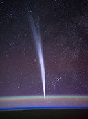 Comet Lovejoy seen from orbit