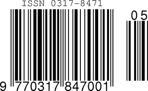 International Standard Serial Number - ISSN encoded in an EAN-13 barcode with sequence variant 0 and issue number 5