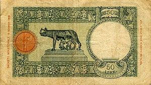 Italian Ethiopia - Image: Italian East Africa P1b 50Lire 1939 b donated
