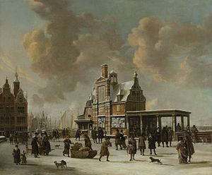 Jan Abrahamsz Beerstraaten - Image: J.A. Beerstraaten The Paalhuis and the Nieuwe Brug