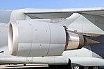 JASDF C-2(78-1205) CF6-80C2K1F turbofan engine(left wing) left front view at Komaki Air Base March 3, 2018 01.jpg