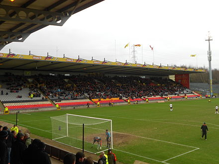 Firhill Stadium is the home of Partick Thistle, located in the Maryhill district of the city. JHS@Firhill.jpg