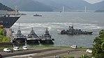 JMSDF YT-05 & YT-64, YT-01, YT-72 at Maizuru Naval Base July 29, 2017 01.jpg