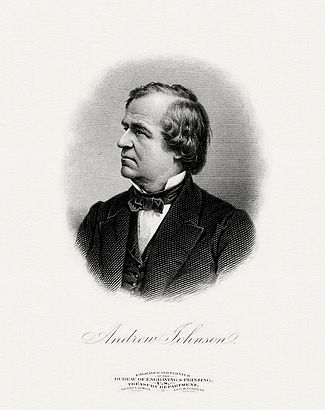 BEP engraved portrait of Johnson as President