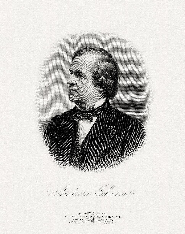 JOHNSON, Andrew-President (BEP engraved portrait)