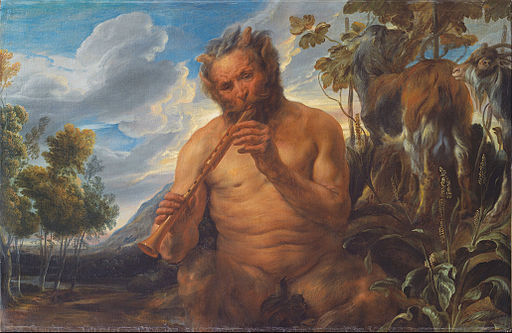 Jacob Jordaens - Satyr Playing the Pipe (Jupiter's Childhood) (fragment) - Google Art Project
