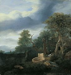 Landscape with a well