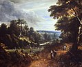 Jacques d'Arthois and David Teniers II - Wooded landscape with peasants and wayfarers.jpg