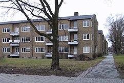 Viviendas en el distrito Kirseberg, Malmö (finales década de 1940)
