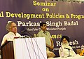 Jairam Ramesh addressing the seminar on Rural Development Policies & Programmes, at Chandigarh on May 12, 2012. The Chief Minister of Punjab, Shri Prakash Singh Badal is also seen.jpg