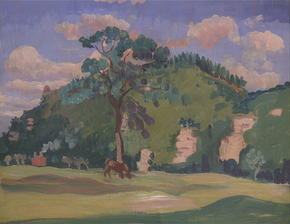 Landscape with a Grazing Horse
