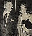 James Hill and Rita Hayworth, 1958.jpg