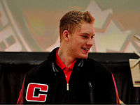 Jamie Oleksiak WJC12 press conference.jpg