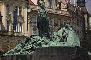 Jan Hus Memorial - The memorial in Old Town Square