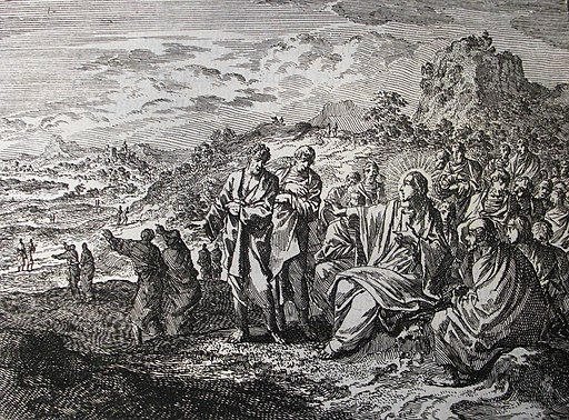 Jan Luyken's Jesus 20. The Apostles Sent Out. Phillip Medhurst Collection