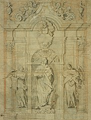 Design for a tomb with Mater Dolorosa